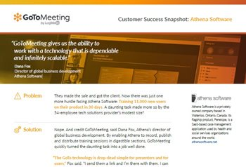 Customer Success Snapshot: Athena Software