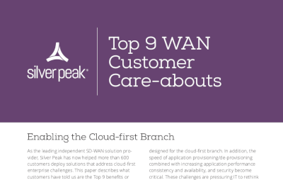 Silver Peak Top 9 WAN Customer Care-Abouts