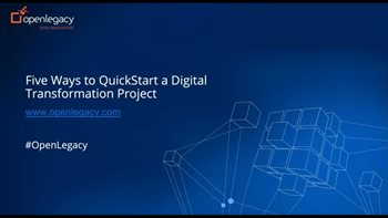Five Ways to QuickStart a Digital Transformation Project