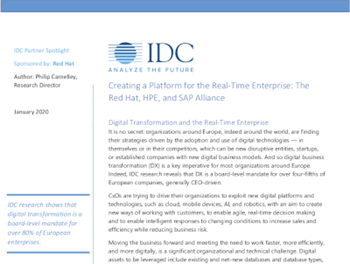 Red Hat Creating a Platform for the Real‐Time Enterprise