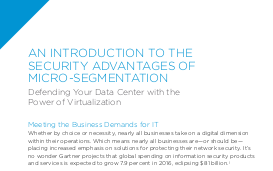 VMware An Introduction to the Security Advantages of Micro-Segmentation