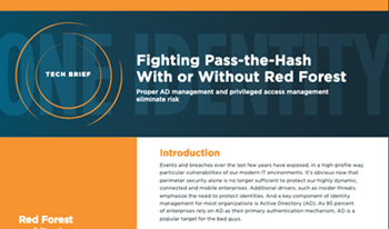 oneidentity-Fighting Pass the Hash With or Without Red Forest