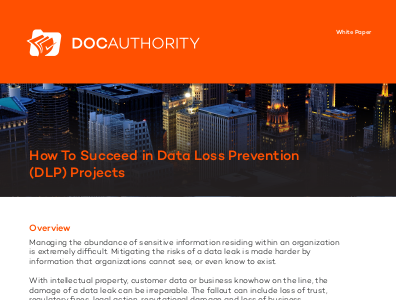 docauthority How To Succeed in Data Loss Prevention Projects