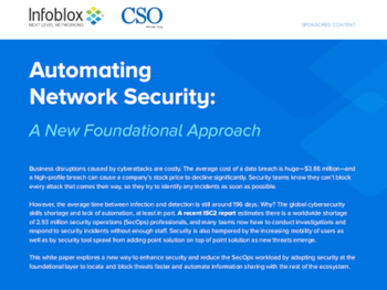 IDG Whitepaper:  Automating Network Security