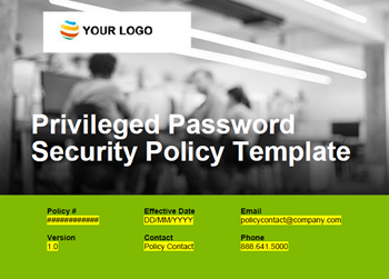 Thycotic Privileged Password Security Policy TemplatePrivileged Password Security Policy Template