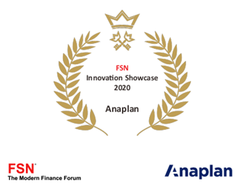 Anaplan FSN Innovation Showcase 2020: Advanced platform capabilities to enable CFOs