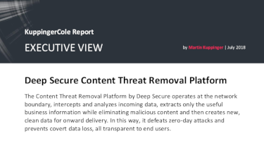 Deep Secure Content Threat Removal Platform