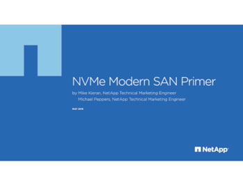 Advanced Systems Group NVME Modern SAN Primer