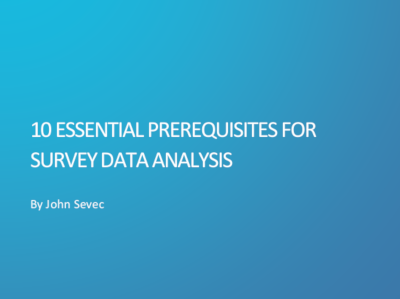 mTab 10 Essential Prerequisites for Survey Data Analysis