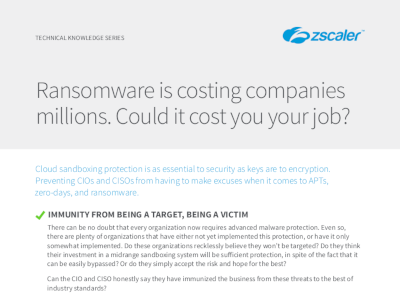 Zscaler Could Ransomware Cost You Your Job?