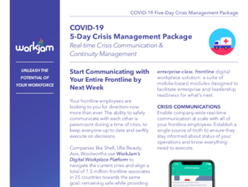 workjam COVID-19 5-Day Crisis Management Package
