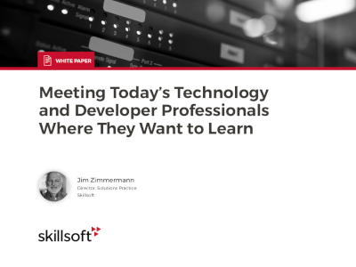 Skillsoft Meeting Today's Technology and Developer Professionals Where They Want to Learn