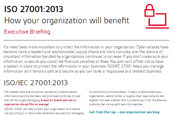 BSI ISO 27001:2013: How Your Organisation Will Benefit