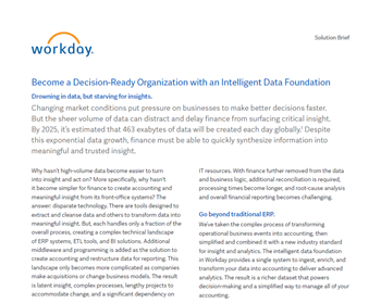 Become a Decision-Ready Organization with an Intelligent Data Foundation