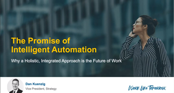 The Promise of Intelligent Automation Webinar Image