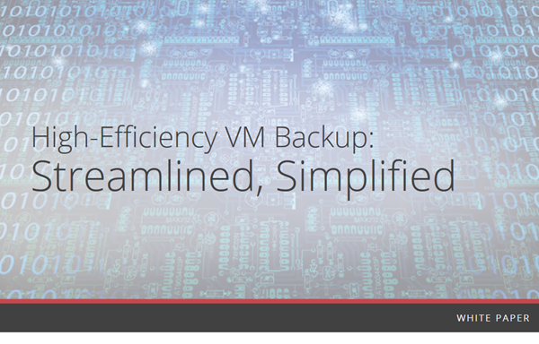 Veritas High-Efficiency VM Backup: Streamlined, Simplified