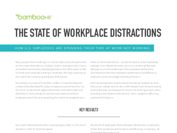 BambooHR The State of Workplace Distractions