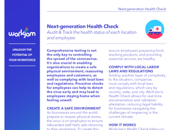 Workjam Next-generation Health Check