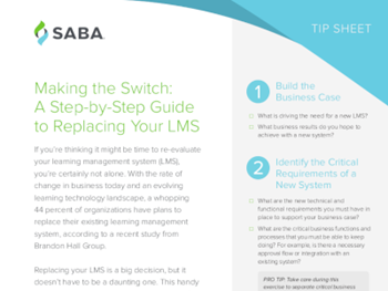 Saba Making the Switch: A Step-by-Step Guide to Replacing Your LMS