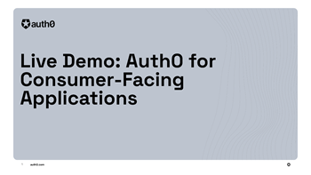 Auth0 for Consumer-Facing Applications