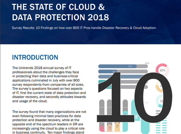 Unitrends The State of Cloud & Data Protection 2018