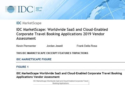 TripActions Worldwide SaaS and Cloud-Enabled Corporate Travel Booking Applications Vendor Assessment