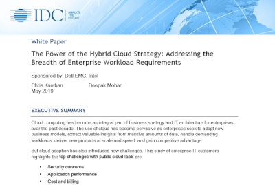 Dell Intel The Power of the Hybrid Cloud Strategy