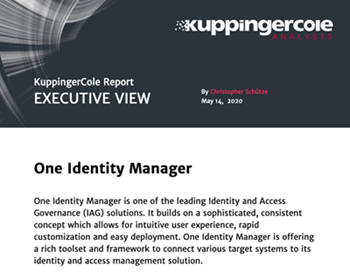 oneidentity-Executive View: One Identity Manager