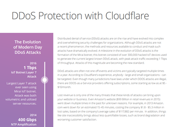 Cloudflare DDoS Protection with Rate Limiting