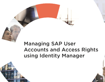 One Identity Managing SAP User Accounts and Access Rights using Identity Manager