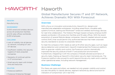 Forescout Case Study: Haworth