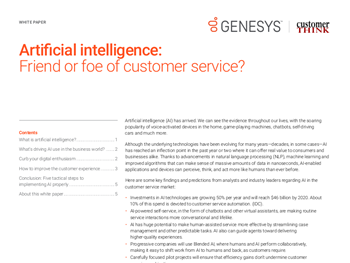 Artificial intelligence: Friend or foe of customer service?