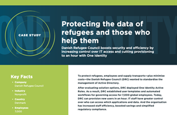oneidentity-Protecting the Data of Refugees and Those Who Help Them
