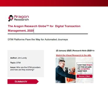 The Aragon Research Globe™ for Digital Transaction Management, 2020