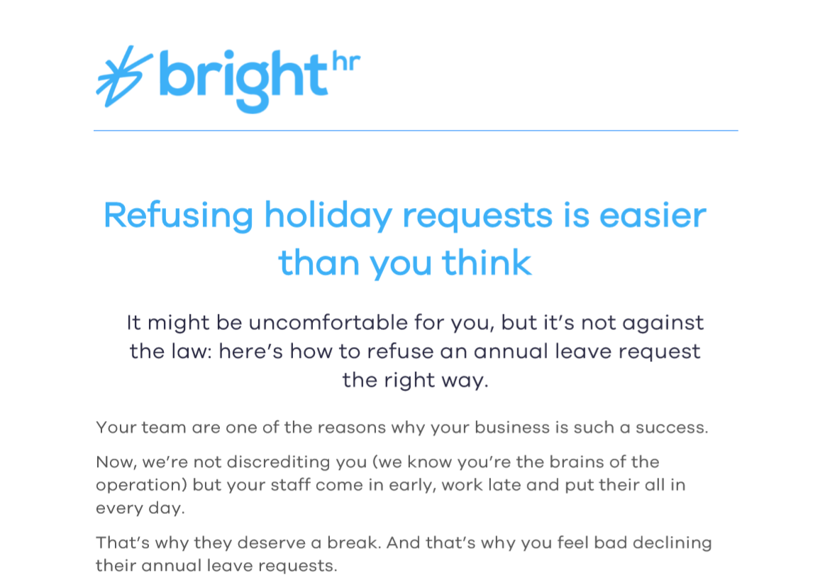 Refusing Holiday Requests Is Easier Than You Think