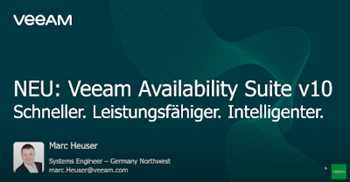 Veeam Availability Suite v10 Schneller.