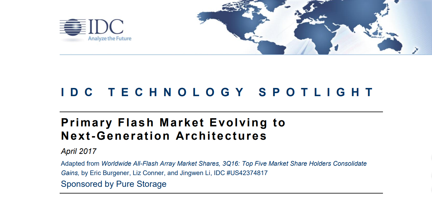 Primary Flash Market Evolving to Next-Generation A