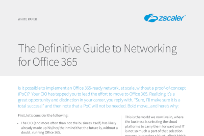 Zscaler The Definitive Guide to Networking for Office 365