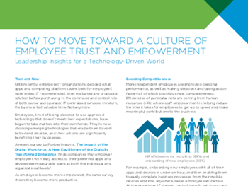 VMware How to Move Toward a Culture of Employee Trust and Empowerment