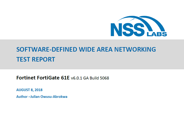 Fortinet Software-Defined Wide Area Networking Test Report
