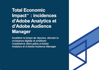 Adobe Total Economic Impact: incidences d'Adobe Analytics et d'Adobe Audience Manager