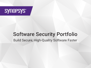 Synopsys - Software Security Portfolio