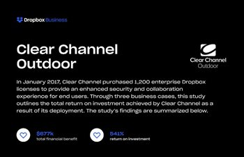 Dropbox Businss and Clear Channel Outdoor