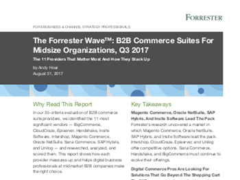Magento The Forrester Wave: B2B Commerce Suites For Midsize Organisations