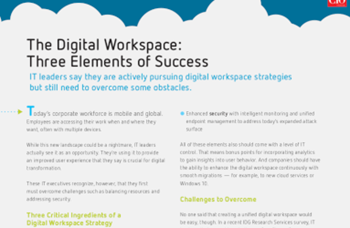 Citrix The Digital Workspace: 3 Elements of Success
