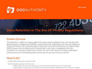 docauthority Data Retention In The Era Of Privacy Regulations