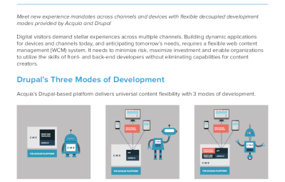 Acquia Decoupled Drupal Delivers Flexible Approaches to Web Development