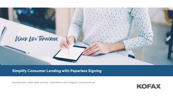 Simplify Consumer Lending with Paperless Signing