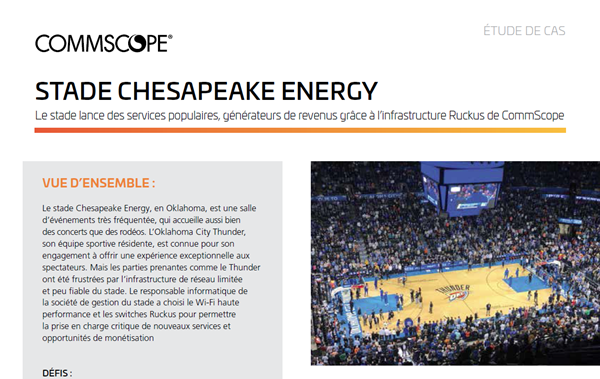 Étude de cas CommScope: le Chesapeake Energy Arena