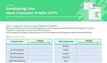 Developing Your Ideal Customer Profile (ICP)